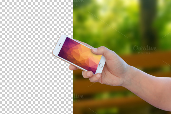 Hand With Iphone 6 Mockup