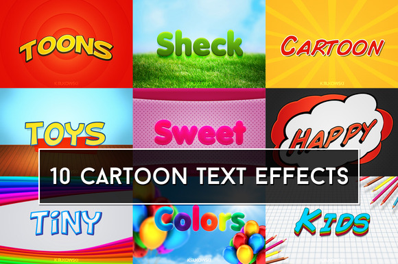 Cartoon Text Effects