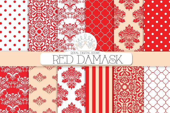 RED DAMASK Digital Paper