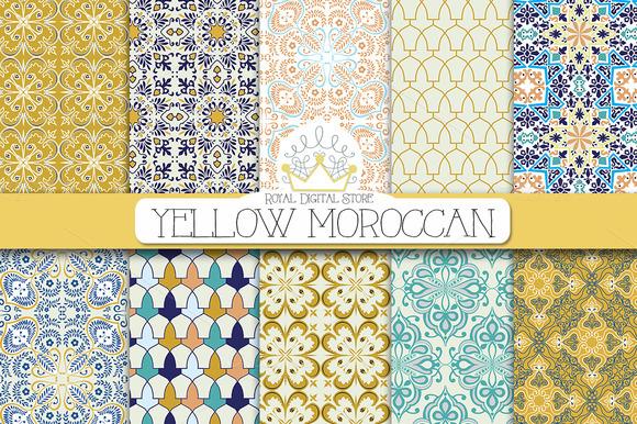 YELLOW MOROCCAN Digital Paper