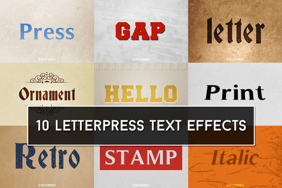 Letterpress Text Effects