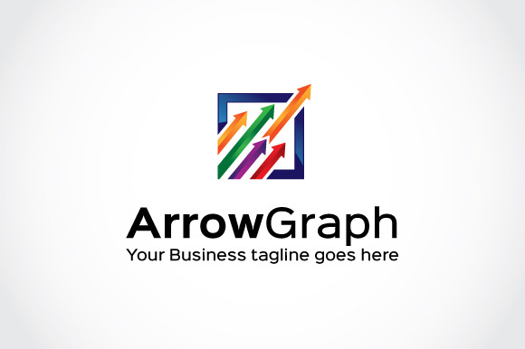 Arrow Graph Logo Template