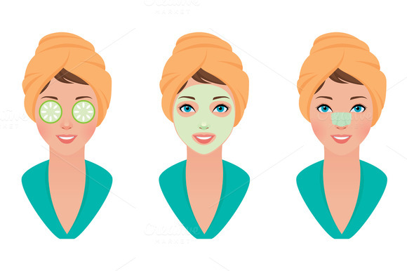 Set Woman Skin Care Face