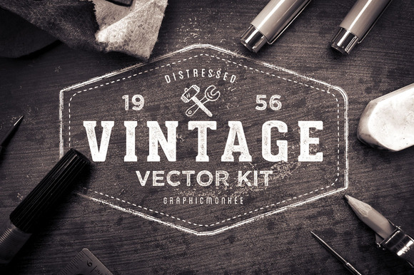 Distressed Vintage Vector Kit