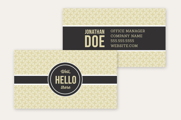 Business Card Template Hello There
