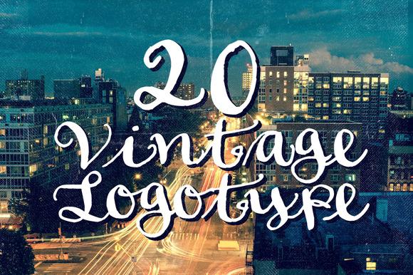 20 Vintage Logotype #4