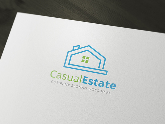 Casual Estate Real Estate Logo