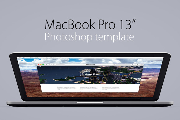 MacBook Pro 13 Retina Template