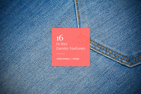 16 Hi-Res Denim Textures