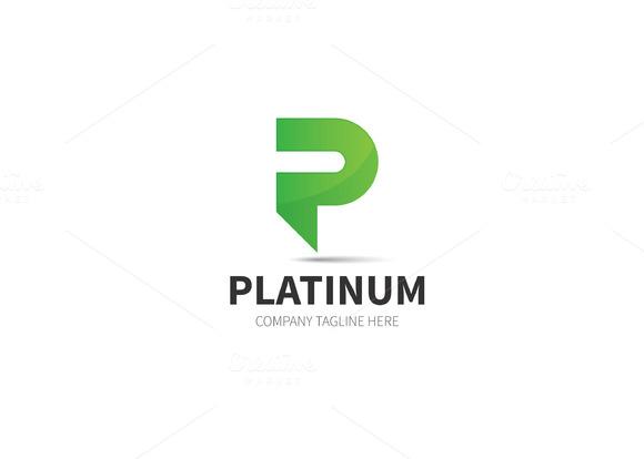 Platinum P Letter Logo