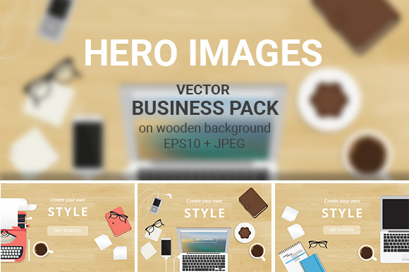Vector Hero Headers