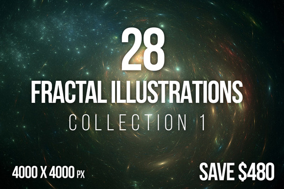 28 Fractal Illustrations