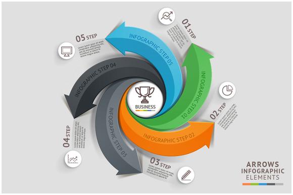 Modern Arrow Business Infographics