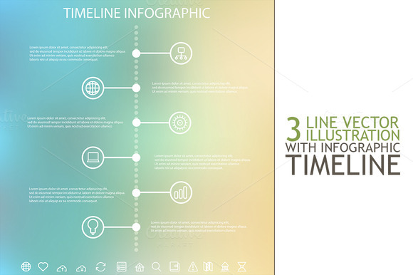 Timeline Infographic With Icons Set