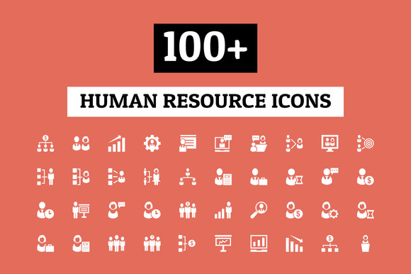100 Human Resource Icons