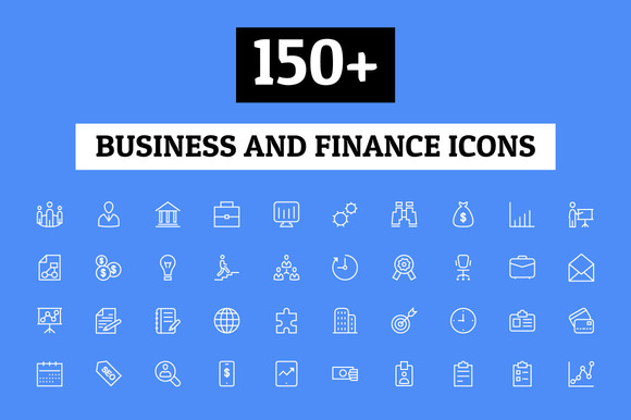 150 Business And Finance Icons