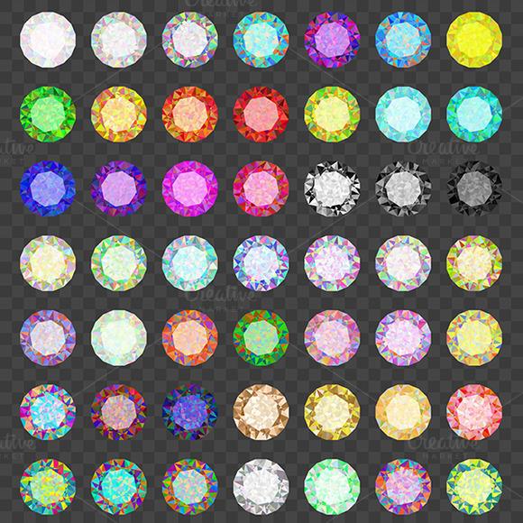 Set Of Colored Gems Jewel Set