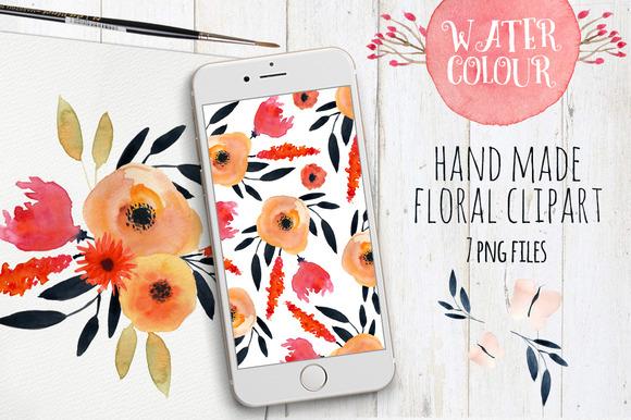 Watercolour Flowers Clipart