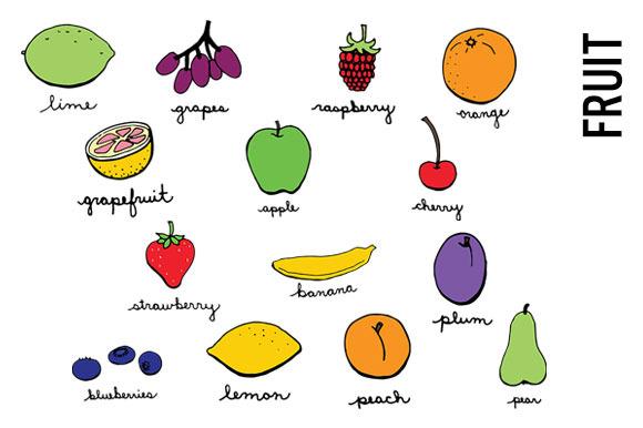 Doodle Fruit Clip Art