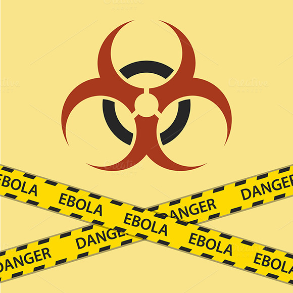 Warning Ebola Biohazard Sign