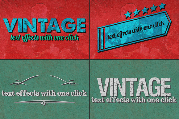 Vintage Text Effects Ver 1