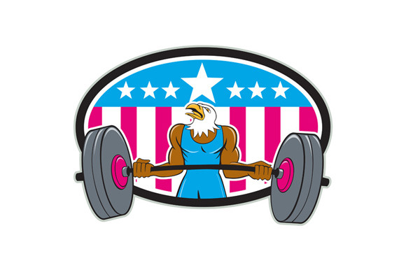 Bald Eagle Weightlifter Barbell USA