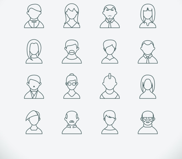 Line Style People Icons