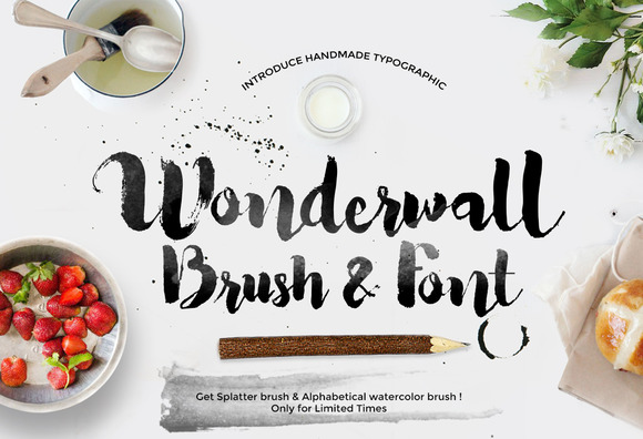 Wonderwall Font Alphabetical Brush