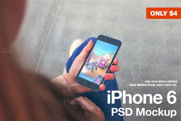 IPhone 6 Black Mockup