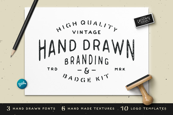 Hand Drawn Branding Badge Kit
