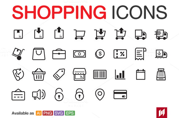 Shopping E-Commerce Icons