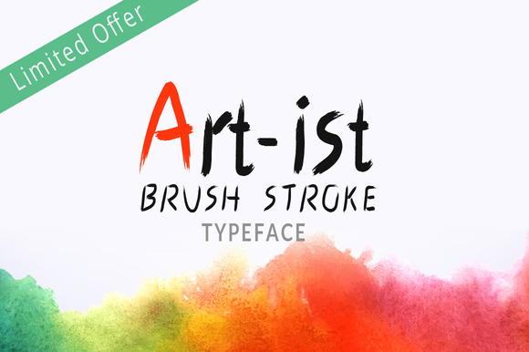 Art-Ist Brush Stroke Typeface
