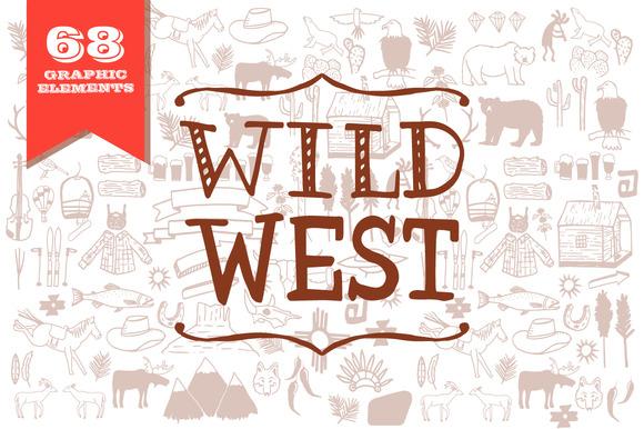 Wild West Graphic Elements