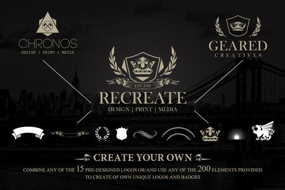 Logo Badge Creation Kit 200Elements