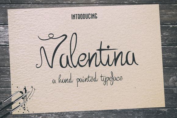 Valentina Typeface Extras