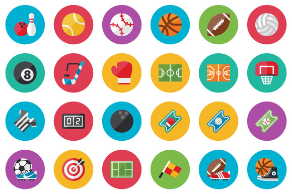 50 Sport Flat Icons