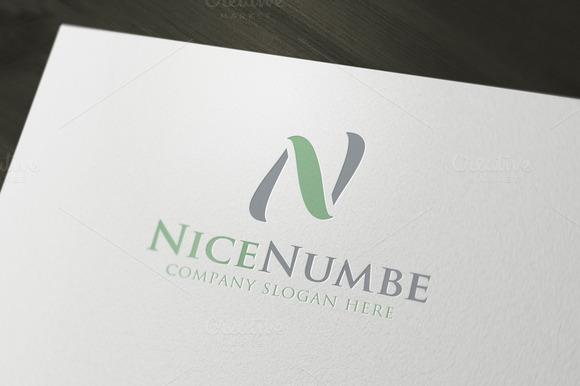 NiceNumbe N Letter Logo