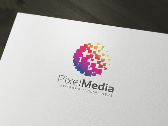 PixelMedia Logo Template