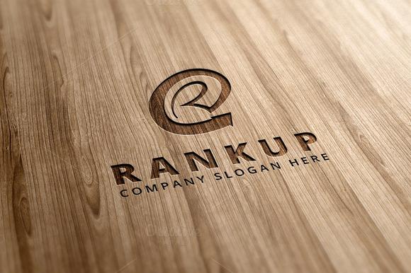 Rankup R Letter Logo Template