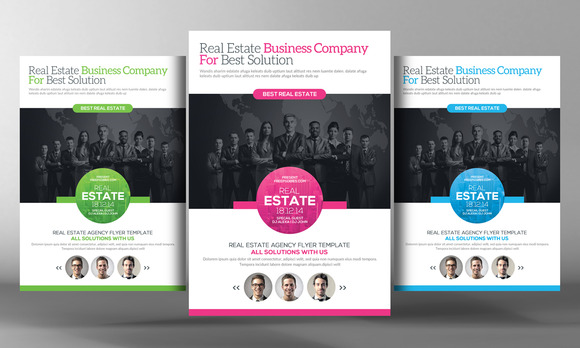 Real Estate Agents Flyer Template