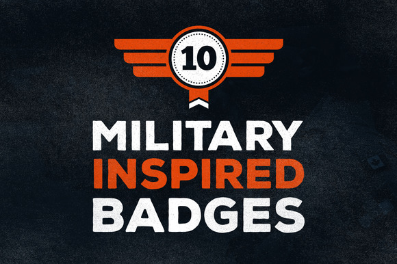10 Military Inspired Badges