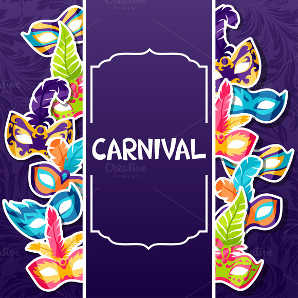 Backgrounds With Carnival Masks