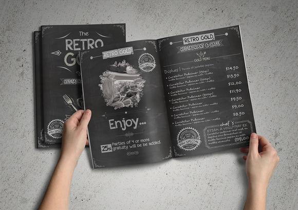 Retro Cafe Restaurant Menu Pack
