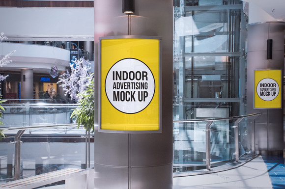 Indoor Advertising Display Mockup