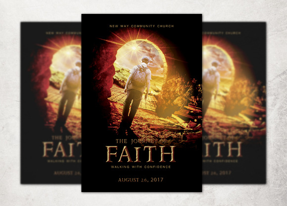 The Journey Of Faith Church Flyer