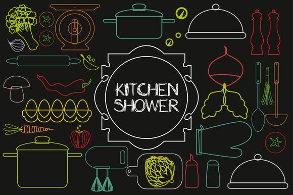 Kitchen Shower Icons