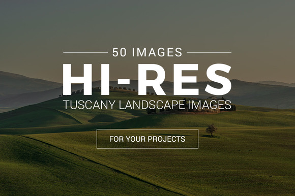 Tuscany Landscape Pack 50 Photos