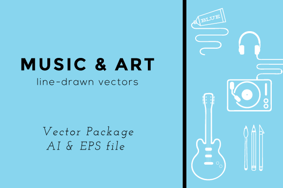 Music Art Line Vectors