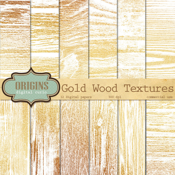 Golden Wood Textures
