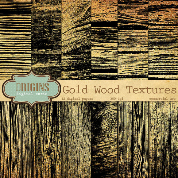 Black And Gold Wood Textures